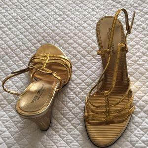 Dolce Gabbana gold sandals